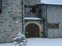 el hotel en invierno