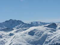 vistas de la montana nevada