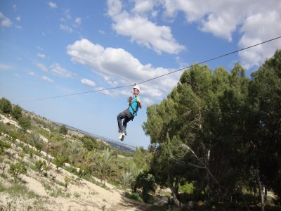 Zip-Lining (2 Rides) in Torrevieja - 150m High