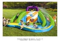 Castillo mágico de agua, capacidad 8-10 niños