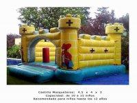 Castillo mosqueteros, capacidad 10-15 niños