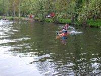 Carreras de piraguas en el Rio Miño