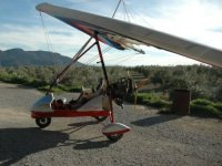 An ultralight before taking off