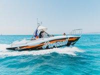 Parasailing boat in mallorca