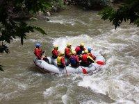 Sailing on a raft