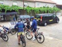 Checking our bikes