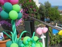 Balcon con globos