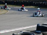 Go-kart racing with podium