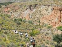 impresionante ruta a caballo