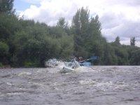 Des rapides dans la descente de l'Alagon
