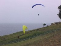 Taking off close to the sea
