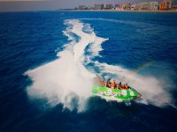 High speed jet boat in Blanes