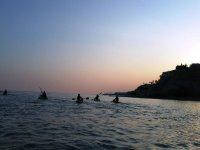 Salida en kayak por el Mediterraneo