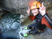 Enjoying canyoning