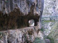 刻在石板路令人印象深刻的峡谷景观