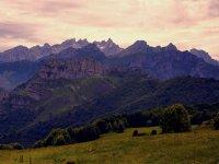 Vistas de las montañas en los picos de europa