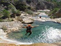 Canyoning jump