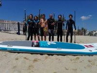 Table of big sup in Badalona