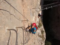 Spectacular ascent of the ferrata