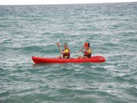 Rowing in the Mediterranean by kayak for two