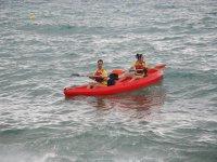 Departure of mixed kayak