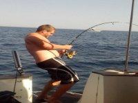 En el momento de la pesca