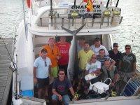 Un dia en el barco de pesca