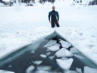 Zona de buceo en hielo