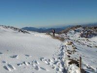 btt nella neve