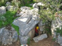Uscita stretta della grotta