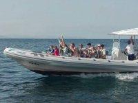 Viaje familiar en barco