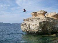 Coasteering water jump in Mallorca