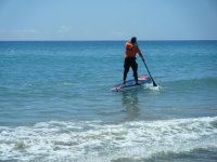 Paddling on the SUP board