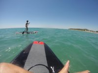 On the paddle surf boards