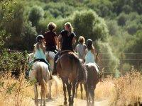 Ruta a caballo con los más pequeños