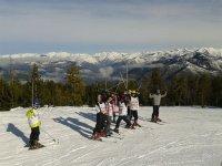在滑雪过程中