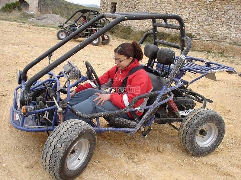 Pilotando el buggy