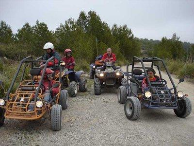 Route en buggy biplace Parc Naturel El Garraf 2h