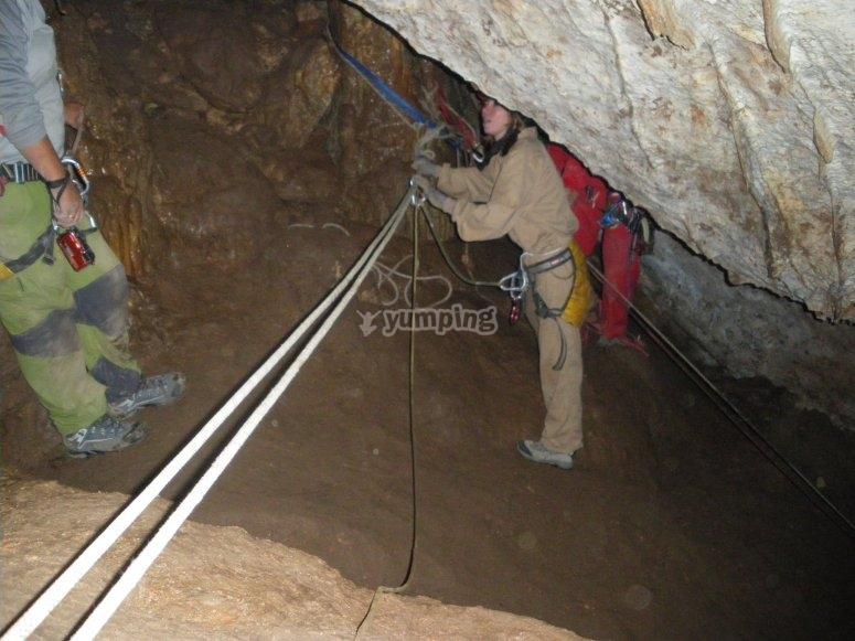 Preparing hte ropes