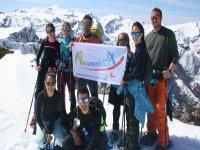 Excursion alpinismo raquetas de nieve