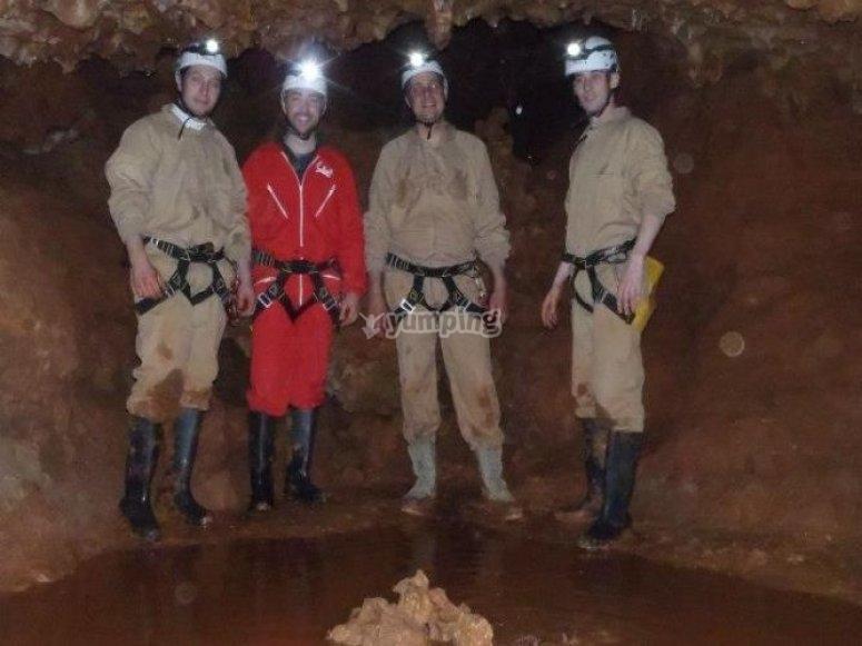 Zona de la cueva con agua