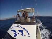 Saluti dalla barca da pesca