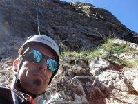 在坎塔布里亚山的自拍照