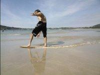 Entrenando en la playa