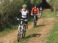 在Btt山地自行车路线