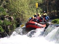 Rafting aquiaventura cascada