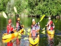 Rutas guiadas de kayak en grupo
