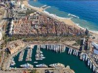 Port Vell en Barcelona