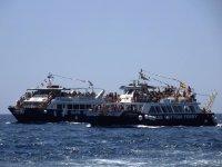 Barcos saliendo desde Mogan