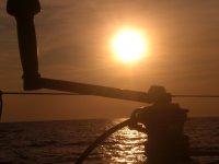 Couchers de soleil de la mer